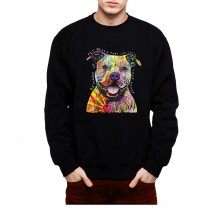 Pit Bull Love Friendly Dog Mens Sweatshirt S-3XL