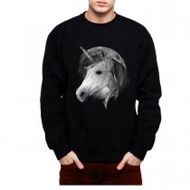 Unicorn Moon Mens Sweatshirt S-3XL