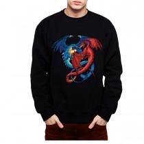 Dragon Duel Fight Mens Sweatshirt S-3XL