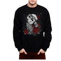 Skull Prayer Rose Men Sweatshirt S-3XL