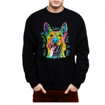 German Shepherd Dog Friend Mens Sweatshirt S-3XL