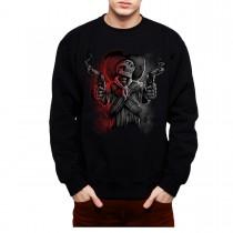 Skull Mafia Guns Men Sweatshirt S-3XL