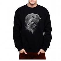 Cat Moon Mens Sweatshirt S-3XL