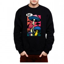 Magic Mushrooms Comic Book Mens Sweatshirt S-3XL