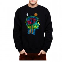 Magic Mushrooms Brain Hallucinations Mens Sweatshirt S-3XL