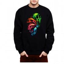 Colourful Skulls Mens Sweatshirt S-3XL