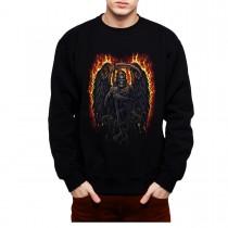 Grim Reaper Fire Scythe Snakes Mens Sweatshirt S-3XL