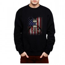 Guitar USA Flag Mens Sweatshirt S-3XL