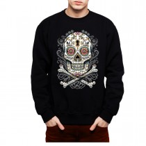 Floral Skull Mens Sweatshirt S-3XL