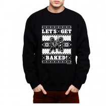 Cookie Baking Christmas Mens Sweatshirt S-3XL