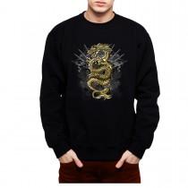 Gold Dragon Mens Sweatshirt S-3XL