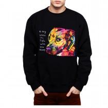 Pitbull Gratitude Love Mens Sweatshirt