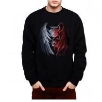 Angel Devil Heaven Hell Skull Mens Sweatshirt S-3XL