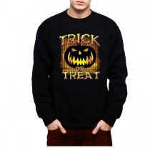 Trick or Treat Halloween Pumpkin Mens Sweatshirt S-3XL