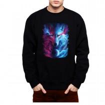 White Wolf Husky Planet Mens Sweatshirt S-3XL