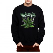 Marijuana Smoke Leaf Mens Sweatshirt S-3XL