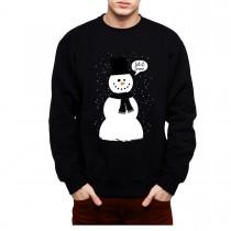 Snowman Winter Snow Mens Sweatshirt S-3XL