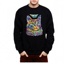 Cat Love Friend Mens Sweatshirt S-3XL