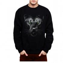 Panther Green Eyes Animals Men Sweatshirt S-3XL