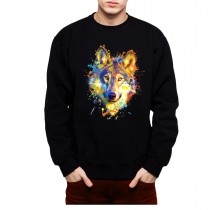 Wolf Neon Mens Sweatshirt S-3XL