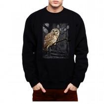 Owl Full Moon Mens Sweatshirt S-3XL