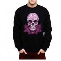 Pink Skull Heart Mens Sweatshirt S-3XL