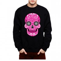 Pink Sugar Skull Death Mens Sweatshirt S-3XL
