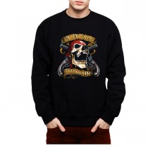 Pirate Skull Guns Mens Sweatshirt S-3XL