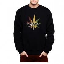 Rasta Leaf Marijuana Men Sweatshirt S-3XL