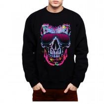 Skull Glasses Fashion Party Men Sweatshirt S-3XL
