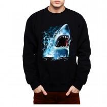 Shark Attack Bite Great White Shark Mens Sweatshirt S-3XL