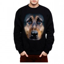 German Shephard Face Animals Men Sweatshirt S-3XL