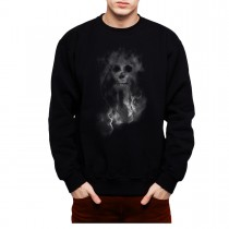 Smoke Skull Death Mens Sweatshirt S-3XL