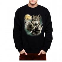 Wolves Horde Wolf Moon Mens Sweatshirt S-3XL