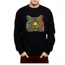 Colourful Tiger Mens Sweatshirt S-3XL