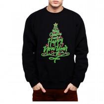 Christmas Tree Greetings Mens Sweatshirt S-3XL