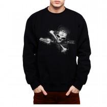 Skull Guitar Rock Music Mens Sweatshirt S-3XL