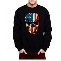 American Skull USA Mens Sweatshirt S-3XL