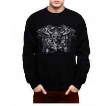 Viking Skull Men Sweatshirt S-3XL