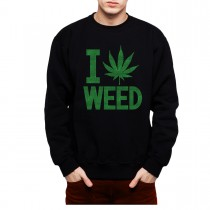 Weed Heart Marijuana Mens Sweatshirt S-3Xl