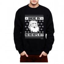 Santa Claus Christmas Retro Men Sweatshirt S-3XL