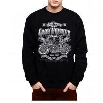 Whiskey Motorbike Mens Sweatshirt S-3XL