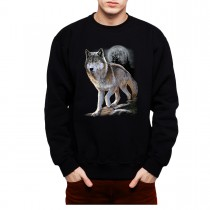 Wolf Full Moon Mens Sweatshirt S-3XL
