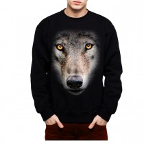 Wolf Face Mens Sweatshirt S-3XL