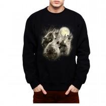 Wolves Howl Full Moon Mens Sweatshirt S-3XL