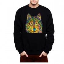 Colourful Wolf Mens Sweatshirt S-3XL