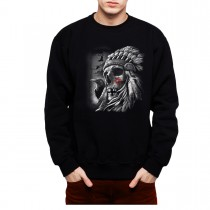 Skull Indian Chief Men Sweatshirt S-3XL New