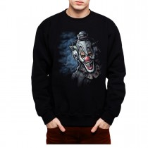 Clown Headphones Funny Men Sweatshirt S-3XL New