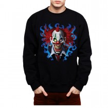 Crazy Clown Funny Men Sweatshirt S-3XL New