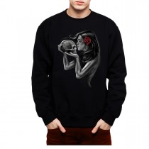 Kiss Of Death Skull Men Sweatshirt S-3XL New